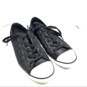 Converse Quilted Black All Stars Women's Sz 9